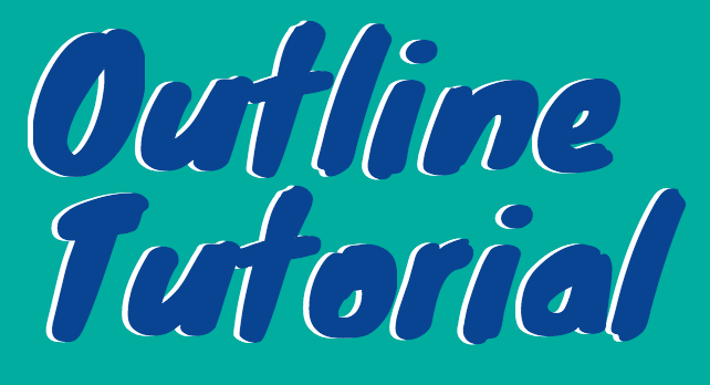 how to easily outline text in canva  with video tutorial